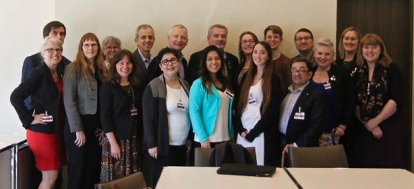 Michael Bach (sixth from left) with members of the Canadian civil society delegation.
