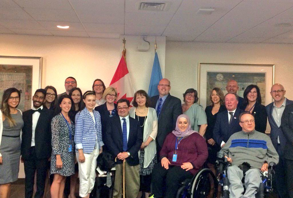 Group of advocates at UN COSP