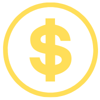 Animation of dollar sign with a circle outline